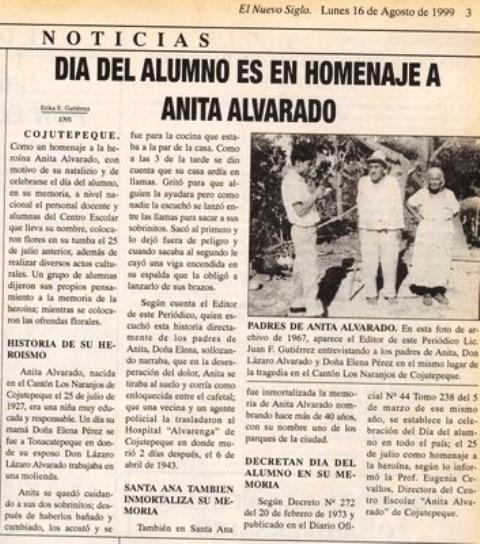 Anita Alvarado DÍA DEL ALUMNO