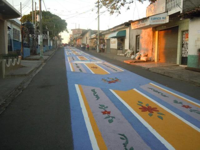 Alfombra de Semana Santa,quinta avenida, Sensuntepeque 2