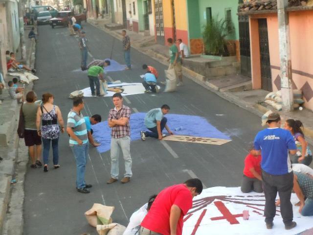 Alfombra de Semana Santa,quinta avenida, Sensuntepeque